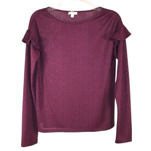 Quality Purple Knit Top by C Label, Size Small
